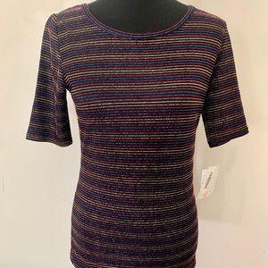 Lula Roe - Gigi Multicolored sparkle stripes